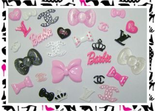 27 Mixed Hello Kitty Barbie Resin Flatback Cabochon