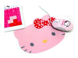 Hello Kitty Mouse Mat Mouse Pad Lovely Laptop Desktop Accessories Pink
