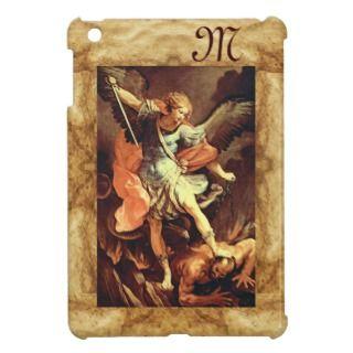 St. Michael the Archangel Monogram iPad Mini Case
