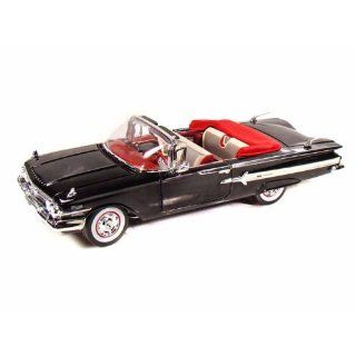 1960 Chevy Impala Convertible 1/18 Black: Toys & Games
