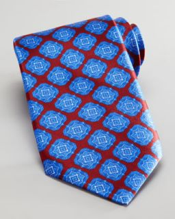Stefano Ricci Large Medallion Silk Tie, Red/Blue   Neiman Marcus