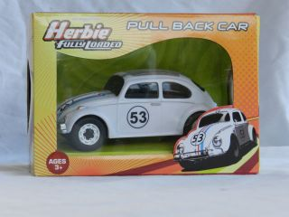 HERBIE THE LOVE BUG FULLY LOADED VW BEETLE PULL BACK ROLL BACK