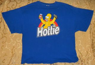 Funny Homer Simpson T Shirt XL Hottie Duff Beer Groening Cartoon