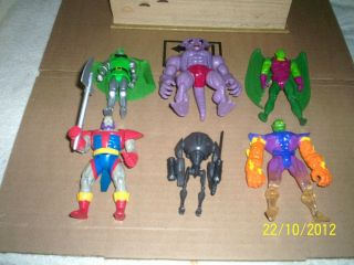 MARVEL VILLIANS TOY BIZ ACTION FIGURE LOT #6 TOP DOGS & MEN WHO HENCH
