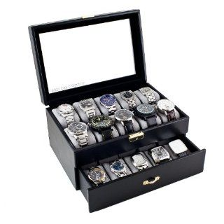 Display Box With Clear Glass Top Holds 20 Watches Watches