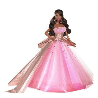 New Barbie Collector 2009 Holiday African American Doll