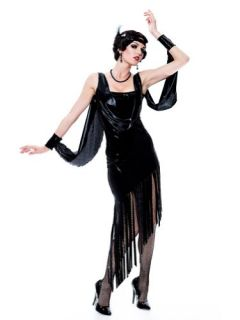 Flapper Costume Roaring 20s Costume Twenties Black Fringe