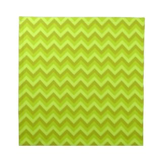 Lime Green Zig Zag Pattern. Printed Napkins