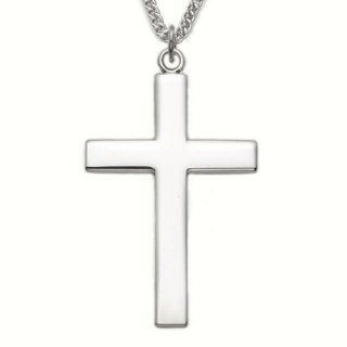 Sterling Silver Cross Necklace with Our Father Lords Prayer on back of
