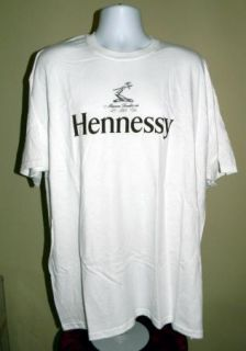 NEW MENS HENNESSY COGNAC LOGO T SHIRT TEE XXLARGE 2XL WHITE NWOT