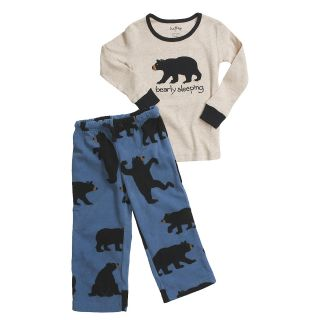 New Hatley Boys Girls Fleece Pajamas Bear Bearly Sleeping