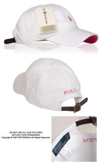 Polo Casual Outdoor Golf Sport Ball Classic Cap Hat White/Pink