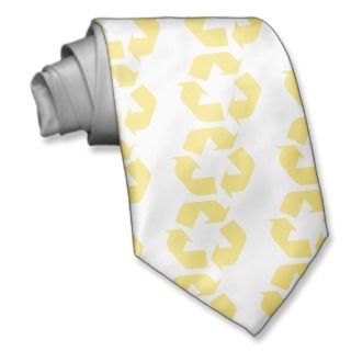 Yellow Recycle Products & Designs! Necktie