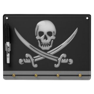 Pirate Skull & Sword Crossbones (TLAPD) Dry Erase Board