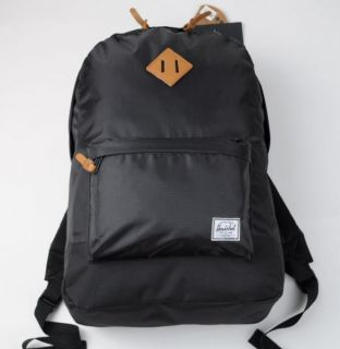 HERSCHEL SUPPLY CO New BLACK HERITAGE RIP STOP Backpack, Back Pack