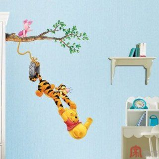 Home Decor Mural Art Wall Paper Stickers   Pooh&Game DWDS