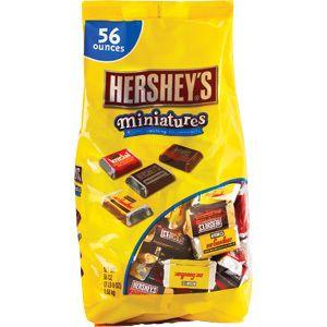 Hersheys Miniatures Milk Chocolate 56 Oz