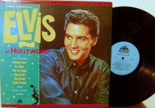 King ELVIS Presley ELVIS IN HOLLYWOOD CLUB Edition LP UK Cover