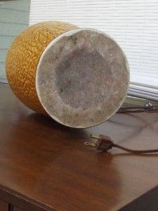 Vintage Mid Century Modern Danish Ceramic Table Lamp Eames Era