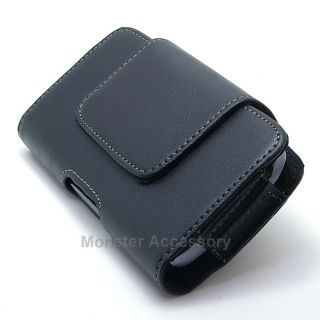 Luxmo Leather Pouch BB3HBK Holster Case Belt Clip for Apple iPhone 5