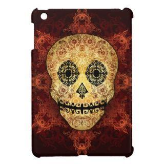 Ornate Flame Sugar Skull iPad Mini Case