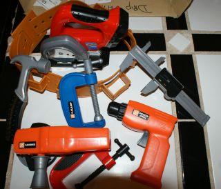 electric guitar toy tool set pretend playset kids boys children deluxe. Black Bedroom Furniture Sets. Home Design Ideas