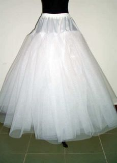 line 3 Layers NO Hoop Net Crinoline Petticoat Underskirt bridesmaid