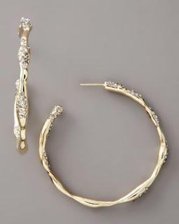 Alexis Bittar Extra Large Crystal Hoop Earrings