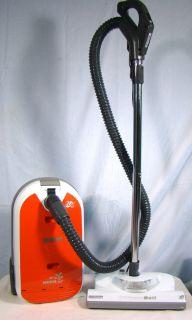 Kenmore HEPA Canister Vacuum Cleaner 29219 Orange VERY CLEAN