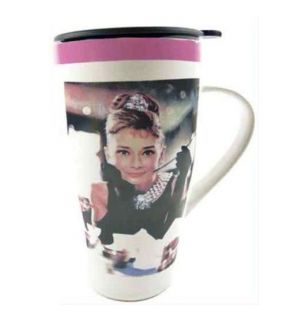 Audrey Hepburn Breakfast at Tiffanys Travel Mug Coffee Cup New in Gift