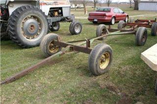 John Deere 1065 Hay Wagon Running Gear 11L 15 Tires Gravity Box Forage
