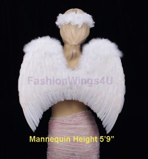 White Classic Adults Costume Feather Angel Wings Fairy Dove Cosplay