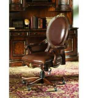 Home Office Leather Swivel Desk Chair