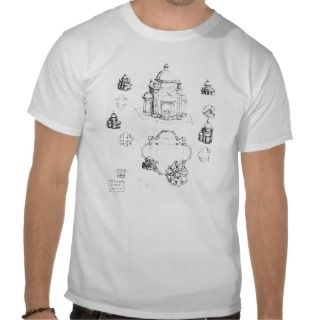 Studies for a building of a centralised plan shirts