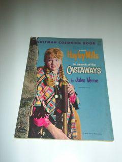 Hayley Mills The Castaways Disney Coloring Book 1962
