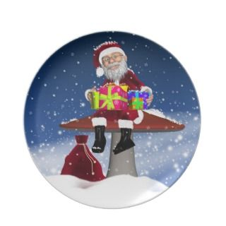 Winter Holiday Christmas Plate