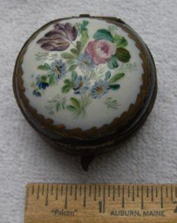 Early ENGLISH? SOFT PASTE Porcelain TRINKET BOX Ca 1810 Blue SPREAD