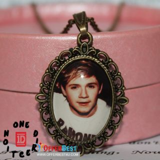 1D One direction Niall Horan image Charm Epoxy Necklace with bag Music
