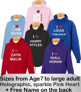 Direction Hoodie Harry Styles Liam Payne Niall Horan Any Size