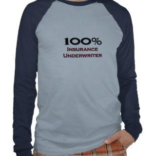 100 Percent Insurance Underwriter Tee Shirts