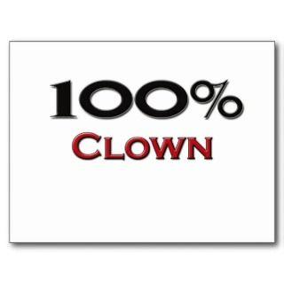 100 Percent Clown Post Cards