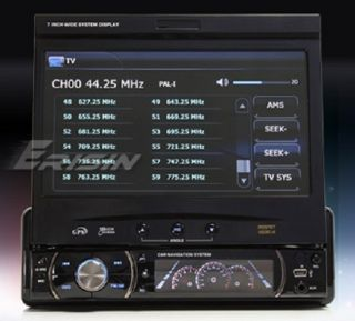 ERISIN 7 1 DIN DETACHABLE HD CAR STEREO PLAYER GPS BLUETOOTH USB TV