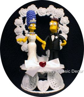 Wedding Cake Topper Y Homer Marge Simpsons Simpson 2