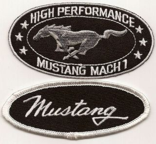 HIGH PERFORMANCE FORD MUSTANG MACH 1 SEW IRON ON PATCHES GT MUSCLE CAR
