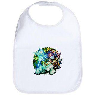 Baby Bib Cloud White Mushroom Garden Fairy and Gnome