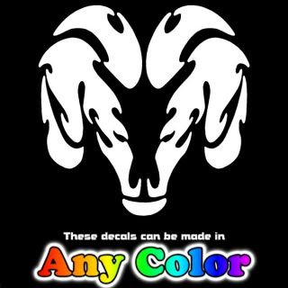 Dodge RAM Head Tribal 12 Auto Car Window Sticker Decal