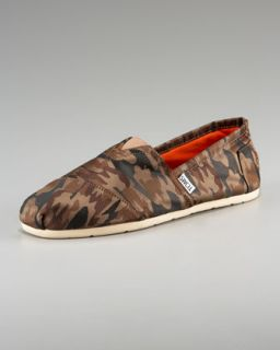 TOMS Brown Briar Camo Print Shoe   Neiman Marcus