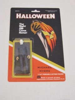 Michael Myers Action Figure on Card Classic Horror Movie 3 3 4 Size