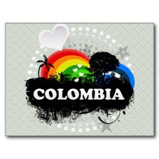 Colombia con sabor a fruta linda postal de