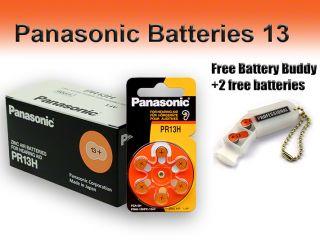 Panasonic Hearing Aid Batteries Size 13 Free Battery Buddy